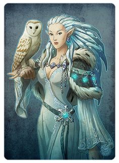 Lonadraleth Feirandir is a very skilled mage dedicated to and loving the cold, and lives in the White forest in the northernmost Parino together with her soulfriend Oloow.