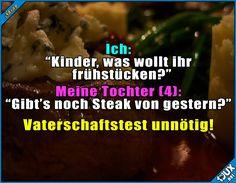 Die gleichen Gene :) #Kinder #Kinderliebe #Sprüche #Humor #lustigeSprüche #Statussprüche #Status