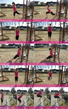playground workout - perfect for when you have young children and need to squeeze a workout in!