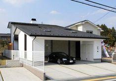 建築家:本田 昌平「ガレージの家」 Home Interior Design, Interior Architecture, Car Shelter, Parking Design, Garage Design, Cool House Designs, My Dream Home, Townhouse, Outdoor Decor