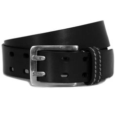 Paul Smith - Accessories 2454-B13 Double Prong Black Belt ($57) ❤ liked on Polyvore featuring mens, men's accessories, men's belts, men, belts, accessories, guys and menswear