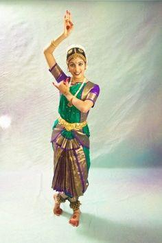 Beautiful collections of 2 Fan 3 Pleats Artificial Silk Bharatnatyam Costume