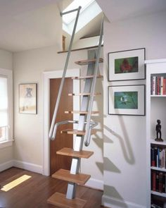 Nice Interior Design, Amazing Staircase Ideas For Small Spaces As Glamorous  Design With Wooden And Metal Materials: Stairs Design For Small House To  Overcome ...