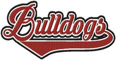 Bulldogs - if you would like any other name not listed just message me You MUST have an embroidery machine and the software needed to transfer it from your computer to the machine to use this file. To combine the individual letters into words/names you also need editing software of some type. This listing is for the machine file only - not a finished item.  The following formats are included in the file you will receive: PES, EXP, DST, HUS, JEF, VP3, VIP, XXX   Due to the nature of this…