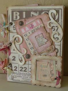 Baby Girl Handcrafted OOAK Mini Album Crafty Secrets Melissa Francis Daisy D's