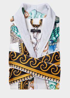 Étoiles de la Mer Silk Robe - print Bathrobes