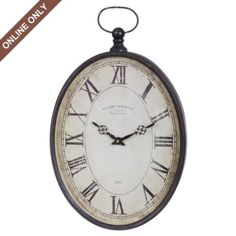 Dark Bronze Gallerie Pocket Watch Clock at Kirkland's