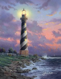 Thomas Kinkade - Cape Hatteras Light  2001