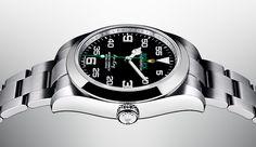 Descubra o novo Rolex Air-King, uma nova edição do emblemático relógio aeronáutico equipado com um mostrador preto único, apresentado em Baselworld 2016.