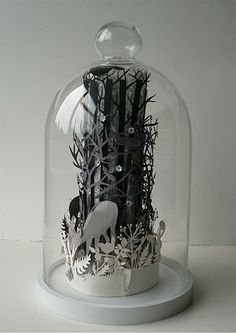 I'm gonna try to make one of these. I'm getting more obsessed with paper cutting.