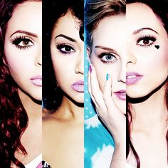 Little Mix (left to right) Jesse, Leigh-anne, Perrie, and Jade Little Mix, Jesy Nelson, Perrie Edwards, Dvb Dresden, Celebrity Look, Celebrity Beauty, Cher Lloyd, Lily Collins, Mixers