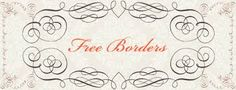 Free Calligraphy Borders Brushes and PS Shapes by starsunflowerstudio on DeviantArt Free Frames, Borders And Frames, Calligraphy Borders, Cool Fonts, Fun Fonts, Free Things, Crafty Projects, Design Elements, Free Printables