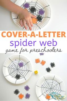 This fun Spider Web Game for preschoolers is a literacy activity for a Halloween theme! Kindergarten Learning, Kids Learning Activities, Toddler Preschool, Learning Resources, Preschool Activities, Spider Web Game, Pre K Pages, Creative Thinking, Halloween Themes