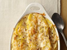 This classic scalloped potato recipe is topped with nutty Gruyere (pro-tip, use a mandoline for quick, even potato slices.)