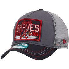 Atlanta Braves New Era Trucker Tear 9FORTY Adjustable Hat - Graphite Navy -  MLB   67f615d45e33