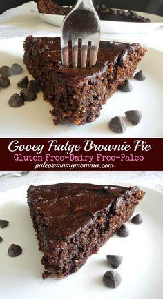 Gooey Fudge Brownie Pie! Paleo dessert recipe!