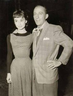 Audrey Hepburn and Bing Crosby