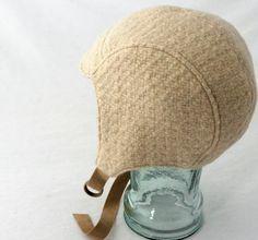 Tessere lana cappello aviatore in farina d'avena di rocksandsalt, $68.00