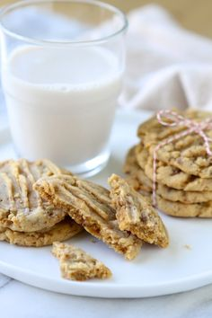 Soft Baked Peanut Butter Toffee Cookies