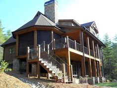two story house plan with walkout basement | Rustic Mountain House Plan | Rustic Mountain Design by Max Fulbright