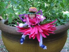 How to make a spring flower fairy--kids craft.