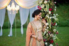 The quintessential coy Sabyasachi bride