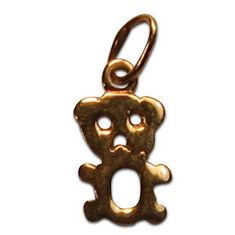 "TEDDY BEAR CHARM 1/4"" x 1/3"" $95.00 Discovered in an estate sale, this teddy bear will make anyone smile.  14K yellow gold."