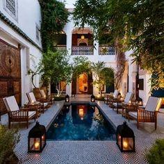 Riad in the medina Marrakech your nearest riad in medina Marrakech Morocco , don't hesitate to visit it Moroccan Garden, Moroccan Style, Moroccan Decor, Moroccan Bedroom, Moroccan Lanterns, Modern Moroccan, Moroccan Design, Riads In Marrakech, Medina Marrakech