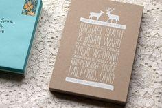 Woodland Wedding Invitations by Rachel Ward via Oh So Beautiful Paper (8) Love this minus the deer