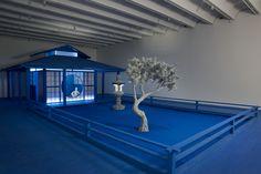 Daniel Arsham Built a Blue Zen Garden in Atlanta - Creators