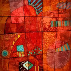 Michèle Brown Artist - The Old Cells Studio: Mostly red
