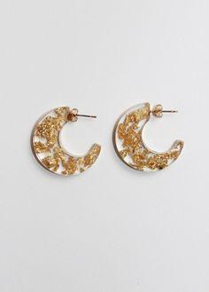 The gold moon hoops @ Gild #resin#jewellery#handmade#christmas