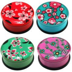 Japanese Flower Blossom Ear Plugs