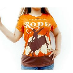 All Over Print T-Shirt Western Country Wild West Rodeo Shirt Cowgirl Tee Rodeo Shirts, Bull Riders, Gifts For Horse Lovers, Skull Shirts, Horse Print, Wild West, Types Of Sleeves, T Shirts For Women, Clearance Sale
