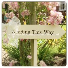 Wooden wedding signs complete with wooden stake. 17.50 with bow. #wedding #weddingidea #woodenarrow #woodensign #weddingsign #vintageweddingsign #vintage #sign #lacebow #weddingdecor #bride #groom #gardensign #personalisedsigns #personlised #bespoke #musthave #shabbychic #rustic #rusticbride #rusticwedding #madeforyou #cream #handmade #handlettering by the_old_potting_shed