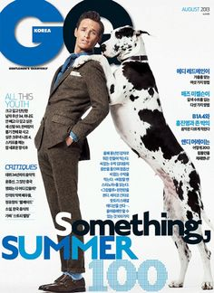 Dulce Danes - GQ Magazine July 2013In May 2013, Spumoni had a photo shoot with Academy Award winning actor Eddie RedmayneforGQ magazine. Below is the photo from the American GQ magazine, the cover of GQ Korea,and a candid of Eddie and Spumoni.