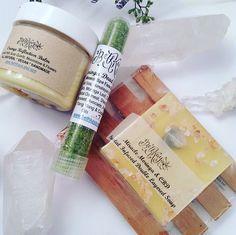 Spa Care Set  Cannabis Flower & Coffee Moonstone Soap by BethKaya