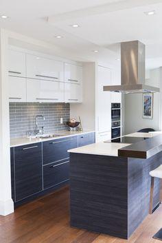 Sarah Richardson Design   Kitchens   Para Paints   Cotton   Smoked Mirror,  Smoked Mirror Backsplash, Floating Shelves, Stained Floating Shel.