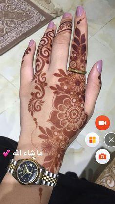 Gorgeous INNOCENT🖤👈 Modern Henna Designs, Latest Arabic Mehndi Designs, Full Hand Mehndi Designs, Henna Art Designs, Mehndi Designs 2018, Mehndi Designs For Beginners, Mehndi Designs For Girls, Mehndi Designs For Fingers, Beautiful Henna Designs