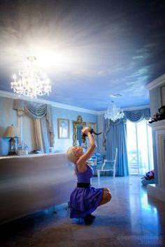 Disney Princess themed bedroom.  How serene!