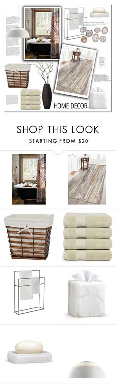 """Bath Rugs"" by snje2105 ❤ liked on Polyvore featuring interior, interiors, interior design, home, home decor, interior decorating, Anthropologie, Creative Ware Home, Crate and Barrel and Labrazel"