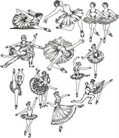 Advanced Embroidery Designs - Ballet Redwork Set