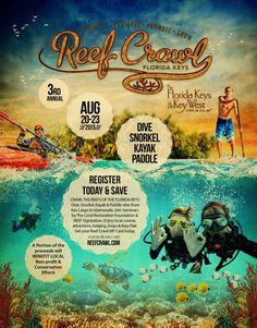 Check out the latest 2015 Reef Crawl Poster Vip Card, Kayak Paddle, Florida Keys, Key West, Snorkeling, Kayaking, Diving, Check, Poster