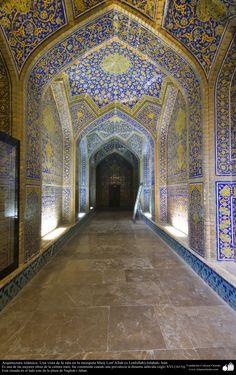 Arquitectura islámica- Una vista de la sala de la mezquita Sheij Lotfollah-Isfahán- 9   Galería de Arte Islámico y Fotografía