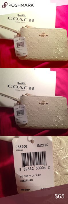 Coach Wristlet ! ❤️ Cute coach wristlet ! Brand new with retail tags ! (: Coach Bags Clutches & Wristlets