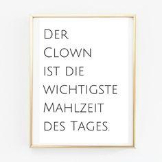 Poster A4 Clown. Küchenposter  von PAP-SELIGKEITEN – Poster, Drucke, Postkarten auf DaWanda.com