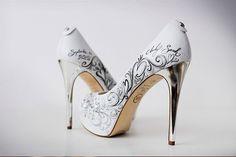 Zapatos de novia pintados a mano ¿Te atreves 57d493a21