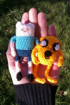 Adventure Time with Finn and Jake. about as mini as I get. Pattern available
