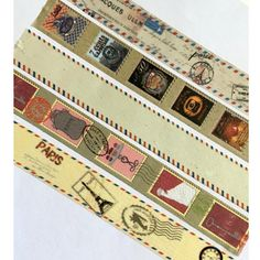 Vintage Stamp Tape, Travel Washi, Holiday, Retro, Vacation, Mail, Pen Pal, Paris, London, France, England, Europe, Old, Post Office, Postage