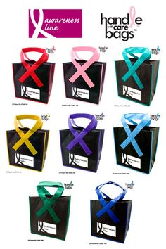 Awareness ribbon handle bags - Patented Grocery Shopper - Domestic Production